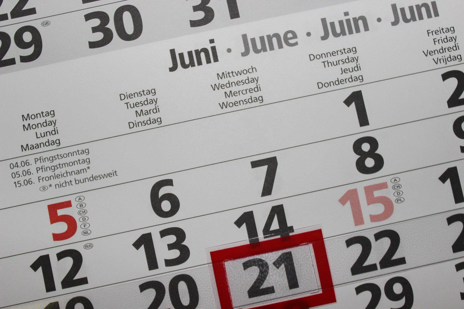Calendário Fiscal para Sociedades