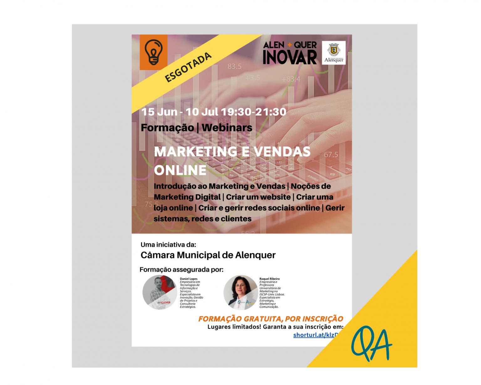 """Formação """"Marketing e Vendas Online"""""""