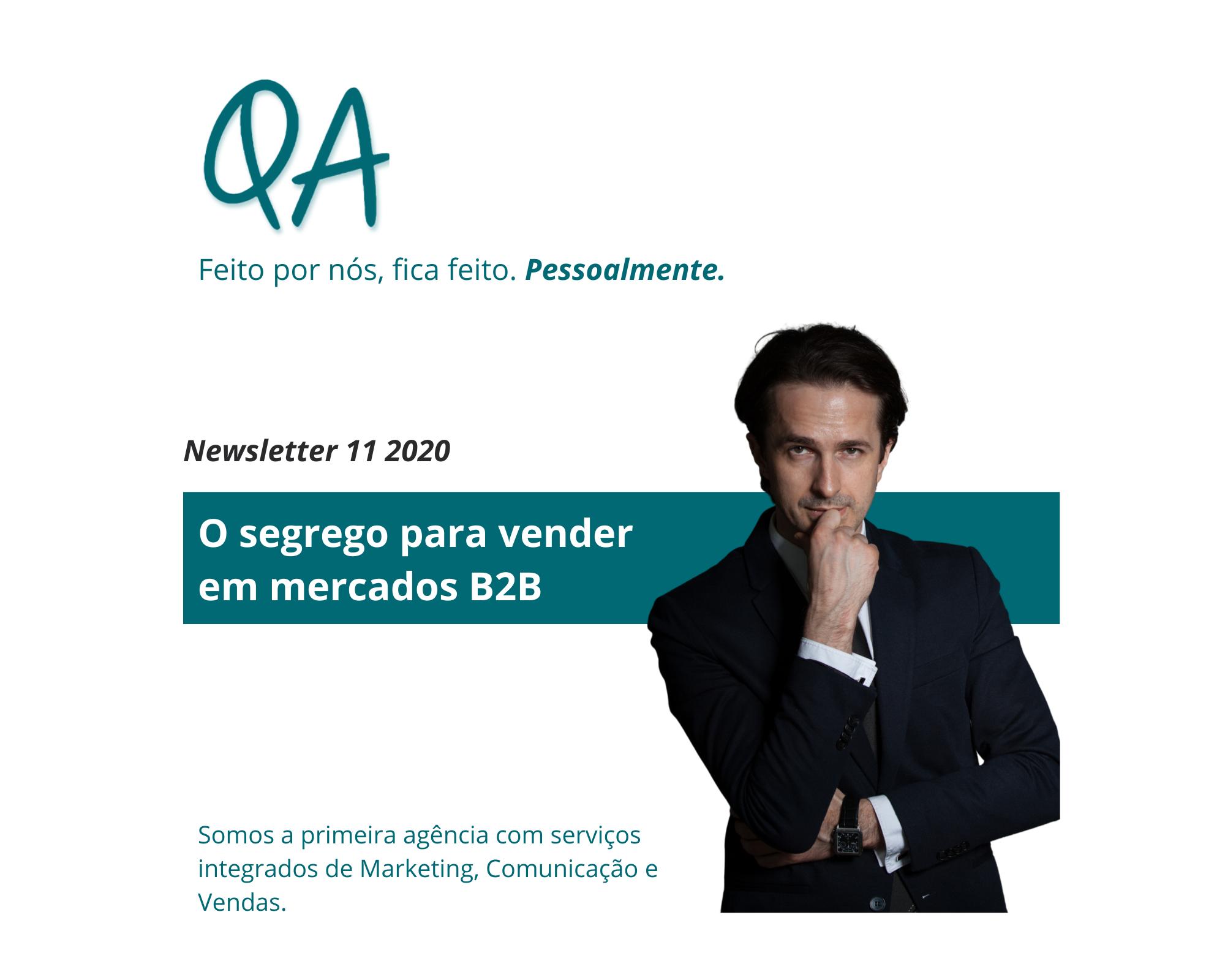 newsletter novembro 2020 qa vender em b2b