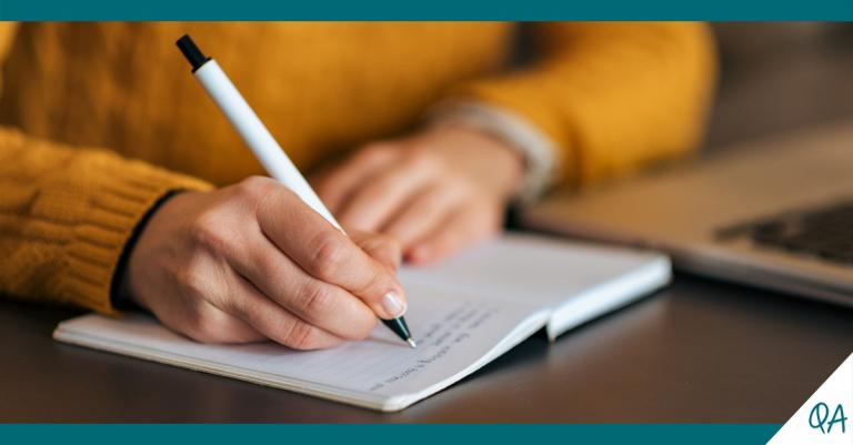 Escrever carta motivação